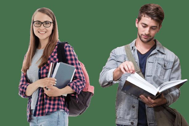 """סטודנטים עם ספרי לימוד - הכנה למבחן יע""""ל"""